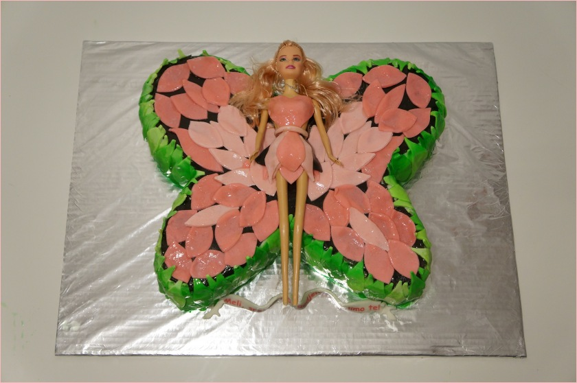 Barbie Schmetterling Torte - Torten - diangel.com - Torten von Diana ...