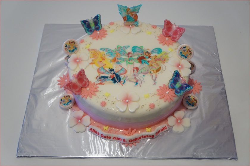 Torte mit Schmetterlinge und Blumen - Torten - diangel.com - Torten ...