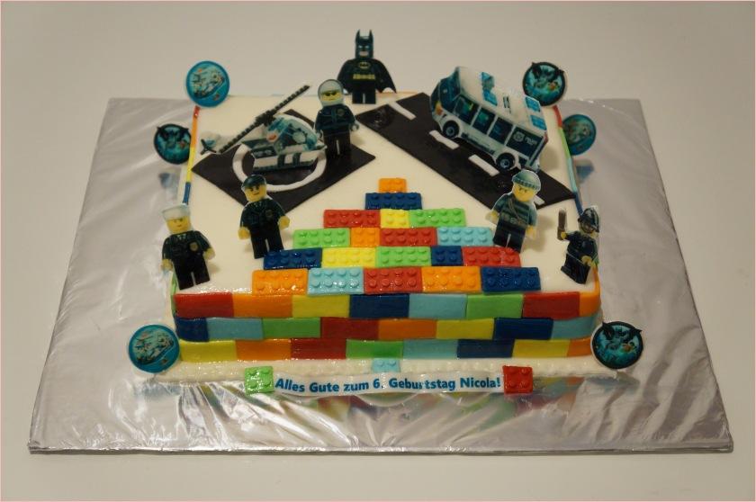 Lego City Polizei Torte + Batman, Polizeiauto und Hubschrauber - 1